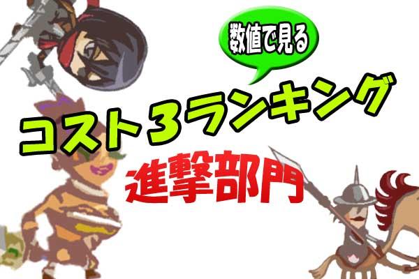 【城ドラ】数値で見るコスト3(進撃)ランキング!【城とドラゴン】