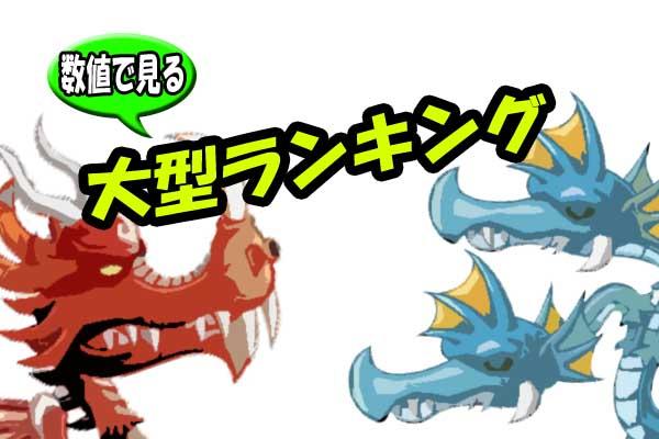 【城ドラ】数値で見る大型ランキング!?30フルステータスの差が明らかに!【城とドラゴン】